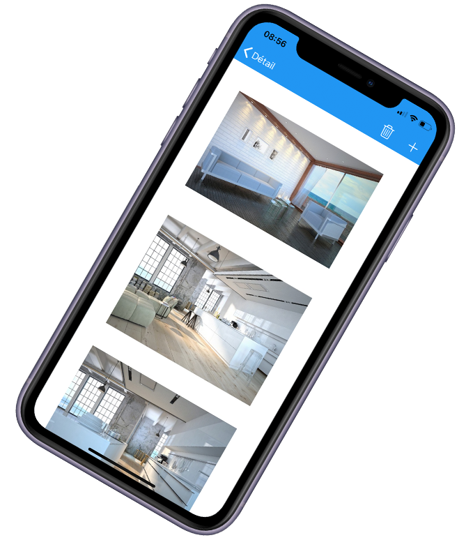 application mobile immobiliere photos